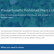 Massachusetts Prohibited Plant LIst Title Page.